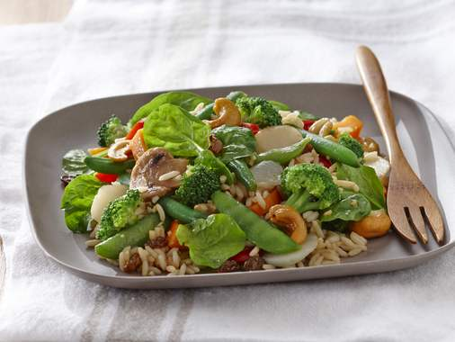 Asian vegetable and rice salad