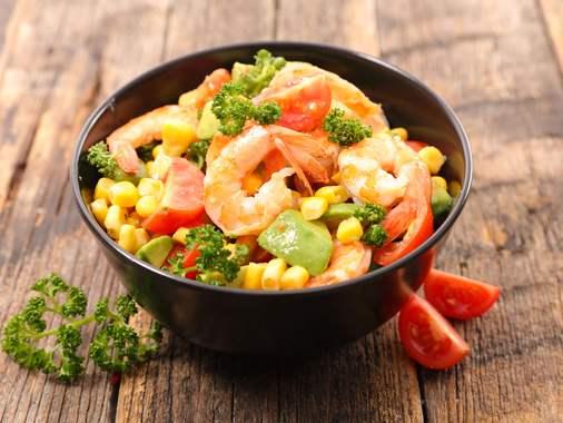 Salade de maïs tout en couleurs