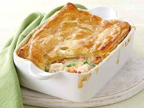 Chicken & Bacon Pot Pie with Goat Cheese