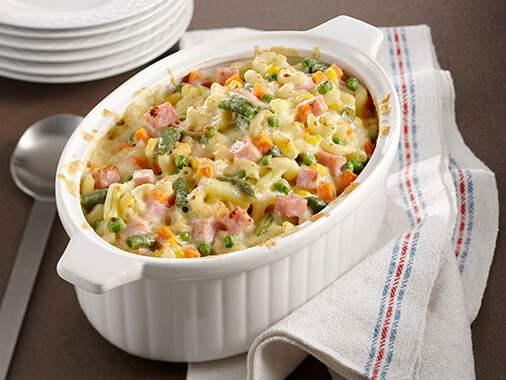 Ham and macaroni casserole
