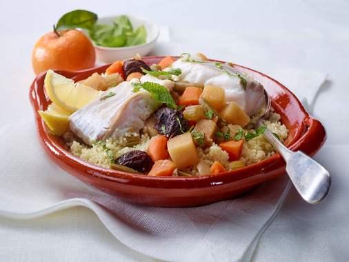 Fish and vegetable tagine à l'orange