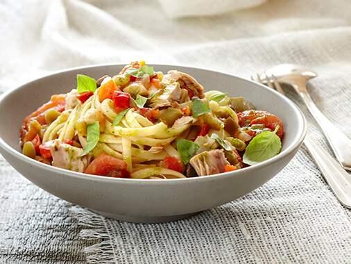 One pot pasta au thon et aux légumes