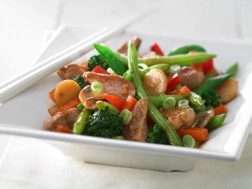 Sauté de porc au gingembre style asiatique