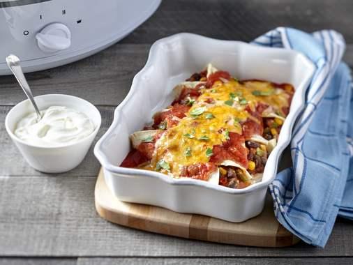 Slow cooker veggies for enchiladas
