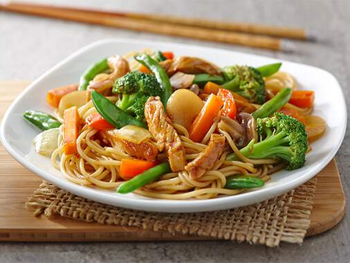 Spicy Garlic Pork with Noodles