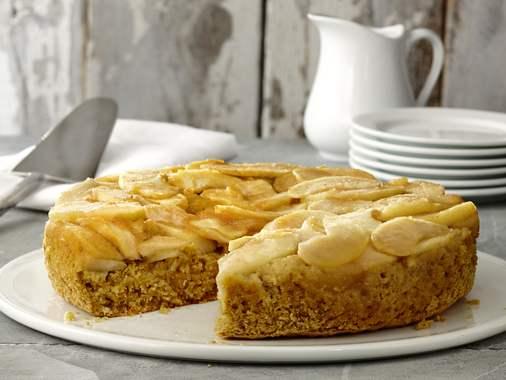 Gâteau-renversé aux pommes et au maïs